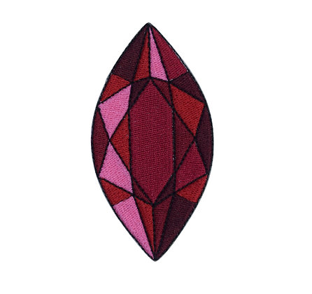 Ruby Jewel Iron on Patch