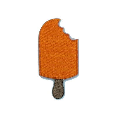 Orange Ice Lolly Iron on Patch