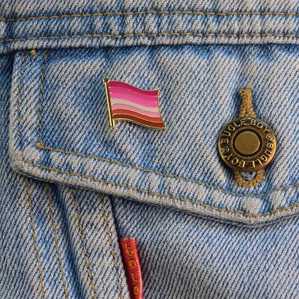 Lesbian Pride Flag Enamel Pin