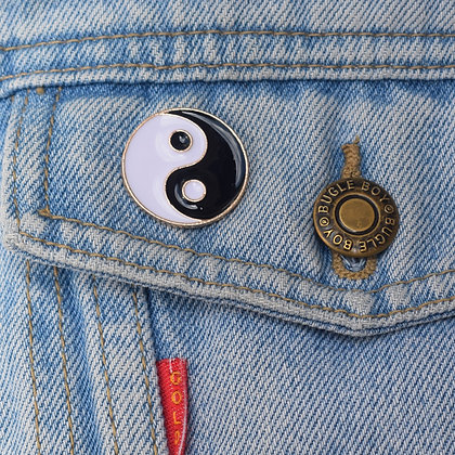 Yin Yang Enamel Pin Badge