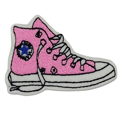 Pink Sneaker Iron on Patch