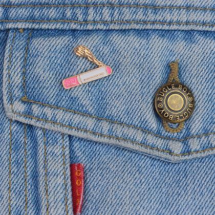 Pastel Pink Cigarette Enamel Pin Badge