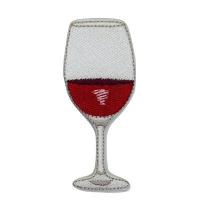 Red Wine Iron on Patch