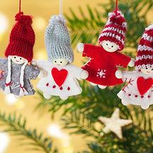Ornamentos de navidad de punto