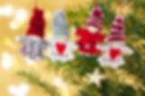 Gestrickte Weihnachtsbaum Ornamente