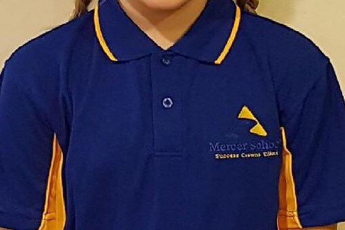 Mercer School Polo Shirt- Royal/Gold