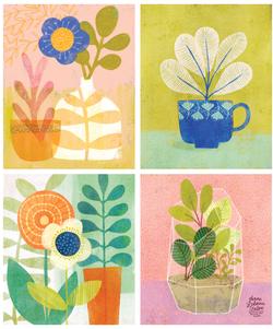 Plants_Florals_4up