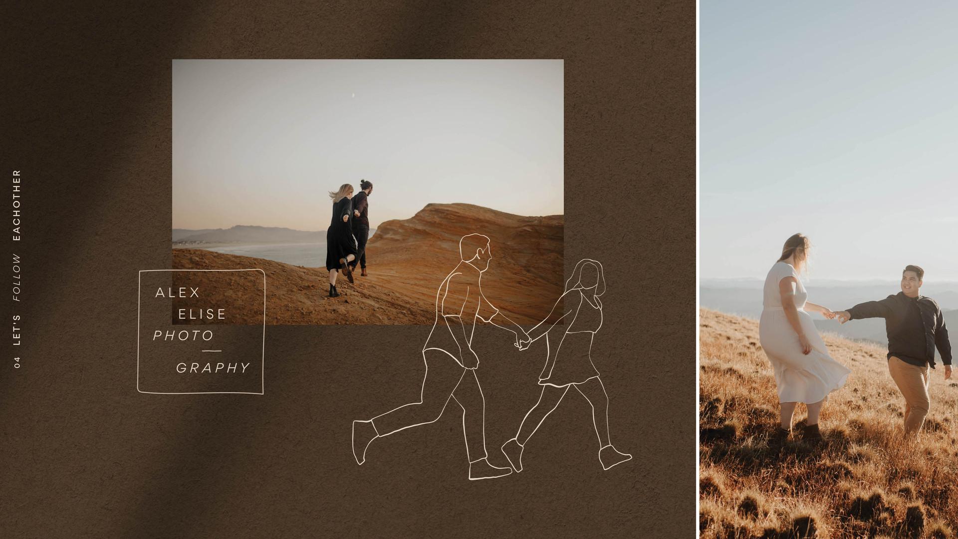 couple running design illustration logo