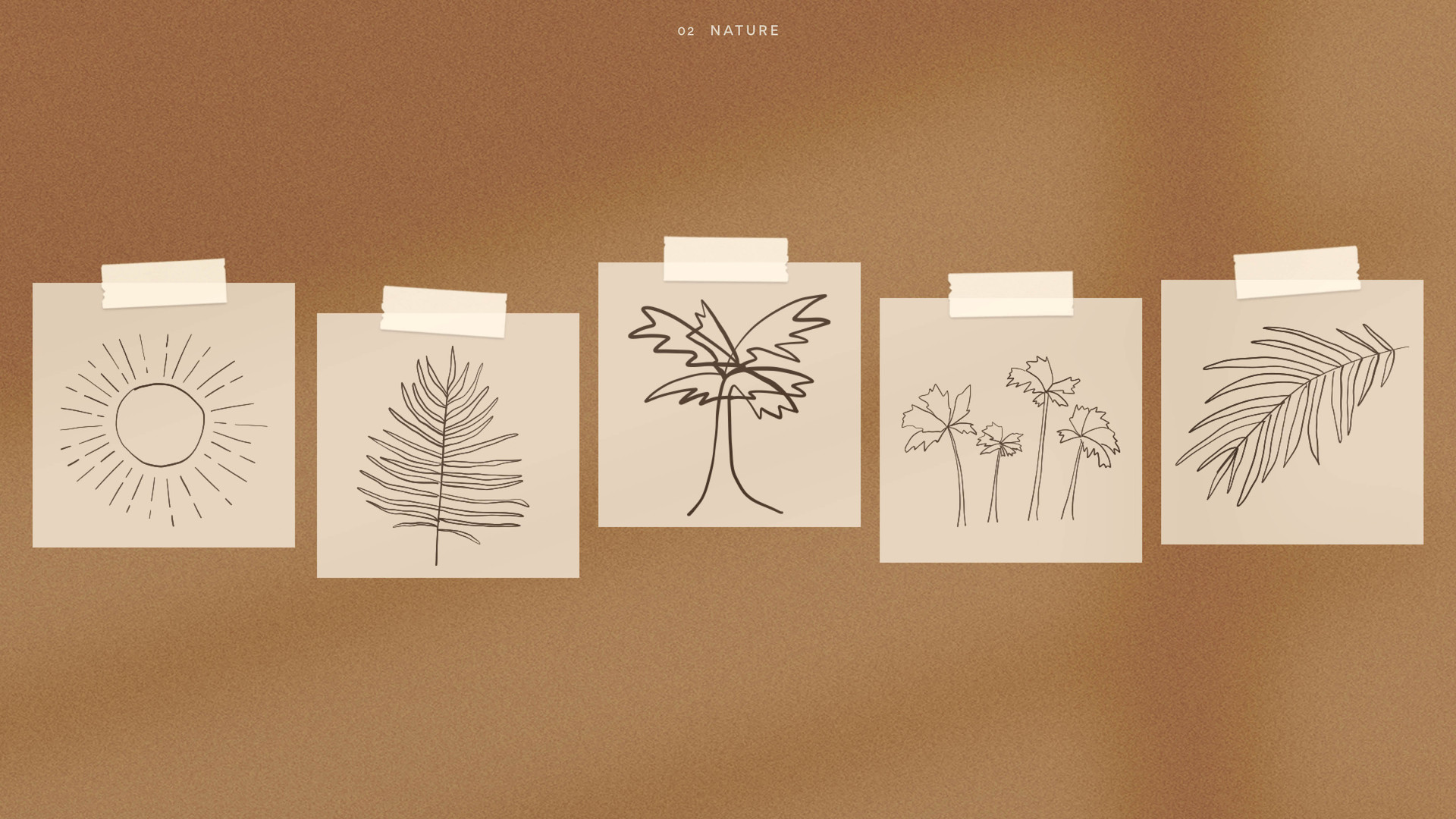 trees leaves sun nature drawings for branding