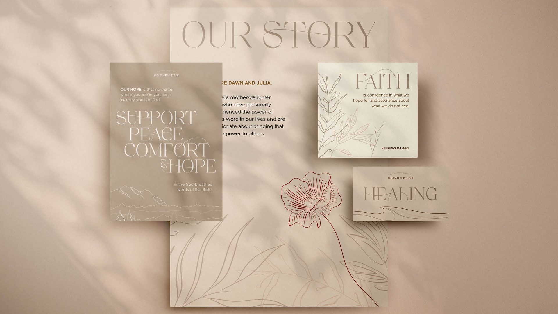 Custom Typography Collateral