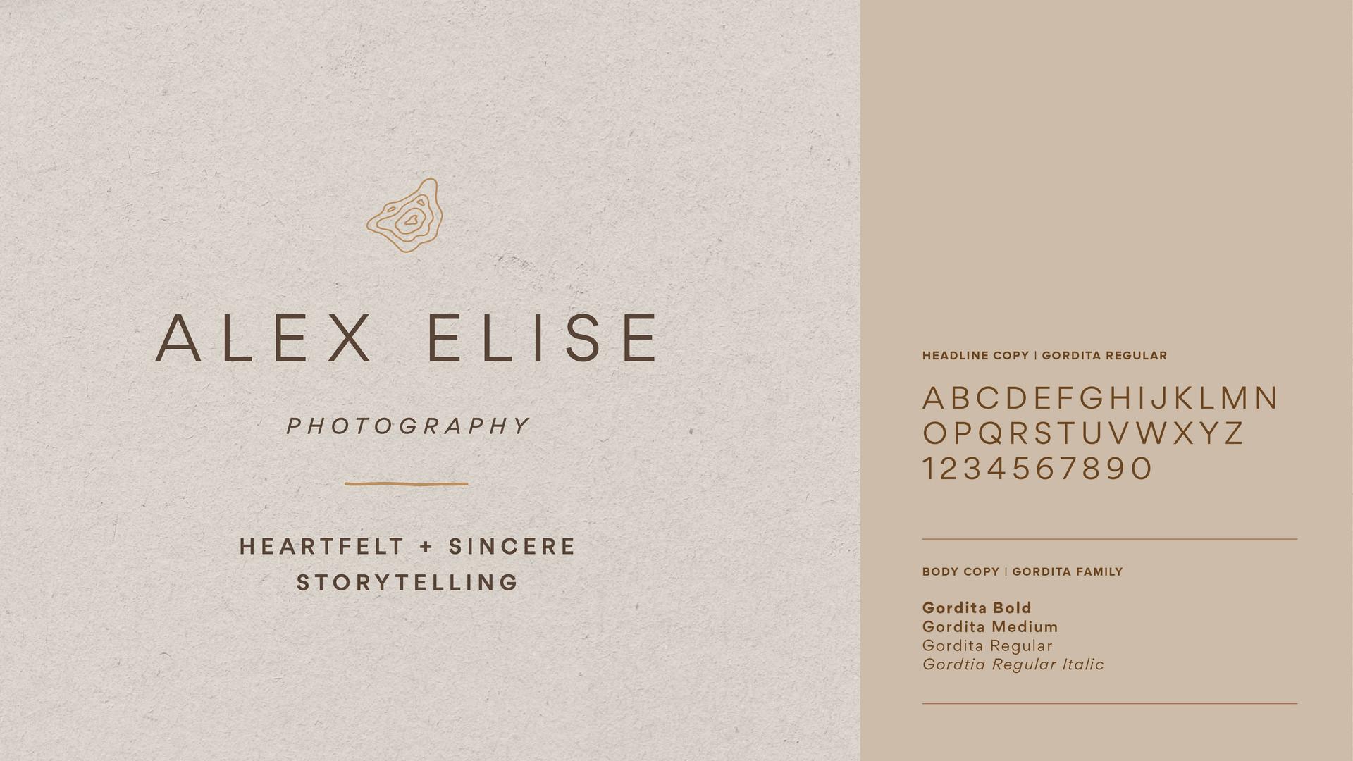 typography design for photographer branding