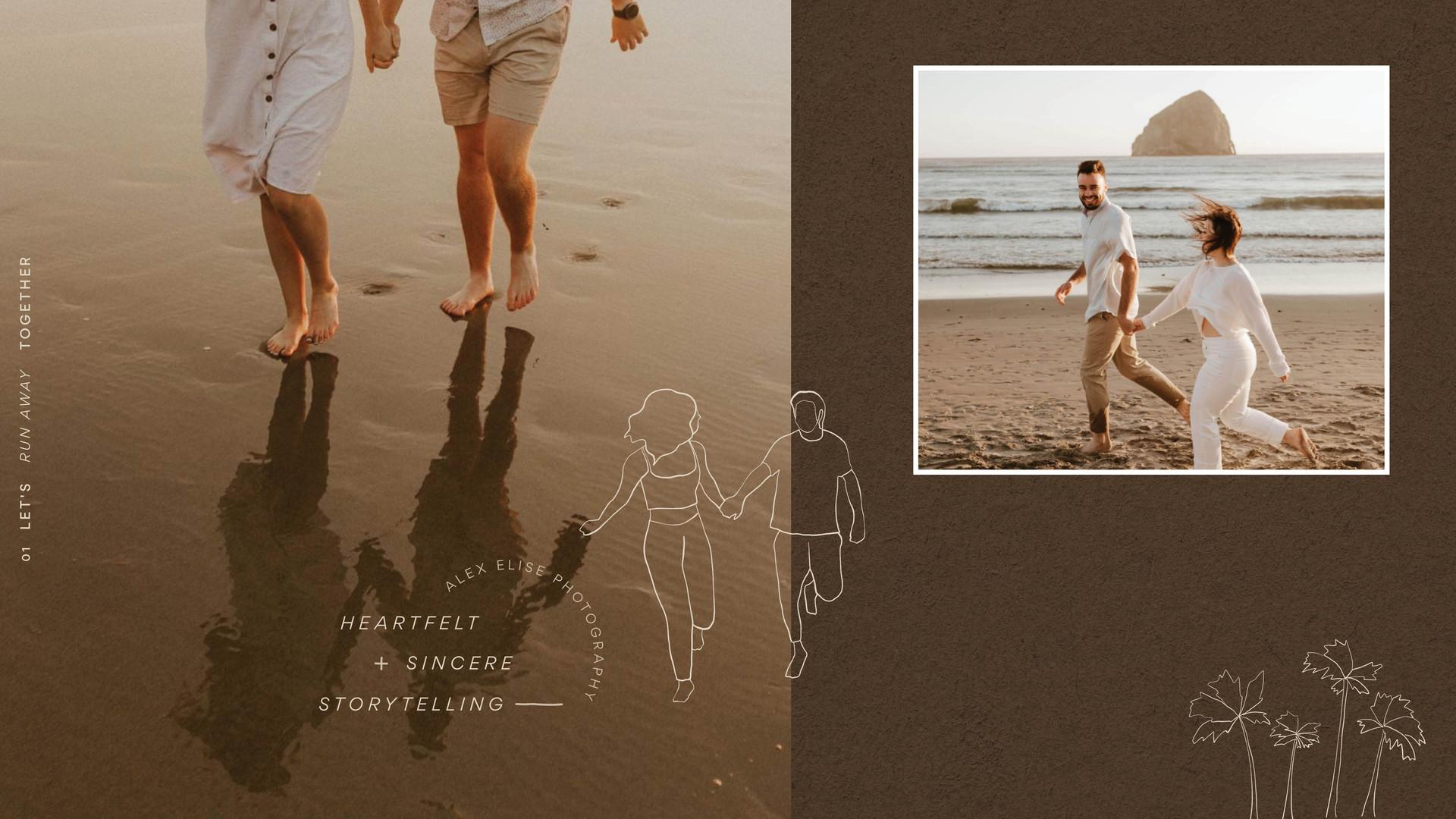 beach photography illustration