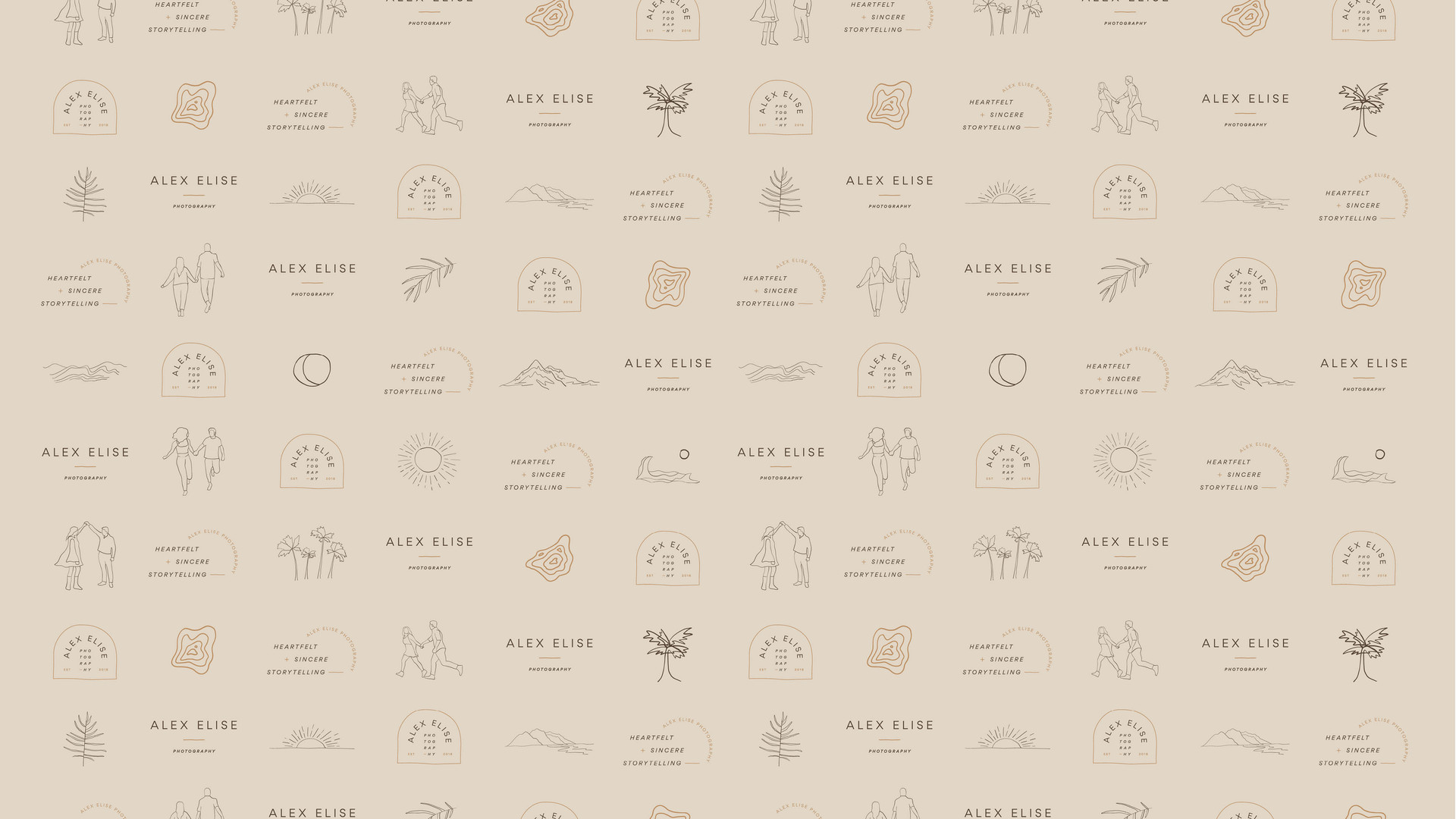 icon design and illustrations for photographer