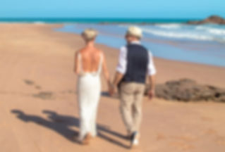 Nina Durack Celebrant, wedding ceremony, same sex marriage, civil celebrant, wedding service, Entrance Point, bride, groom, beach