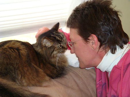 Pet Talker Holly Jacobs with Cat Third E