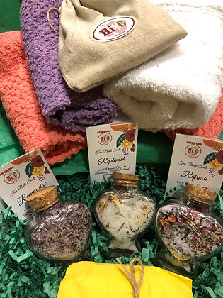 Tea Bath Salt|Spa Gift Set Collection|Cold Season Bath Tea|Stocking Stuffer