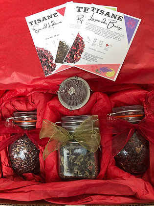 Valentine's Day Tea Gift Box #3 |Blends of Hibiscus, herbs, spices and more!