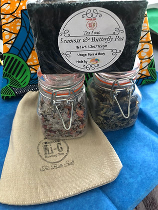 My Tea Spa -Herbal Tea Blend,Herbal Tea Bath Salt and Seamoss Soap