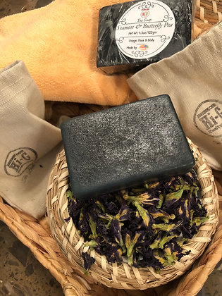 Vegan Sea Moss Soap infused with 100% Organic Hibiscus and Butterfly Pea flowers