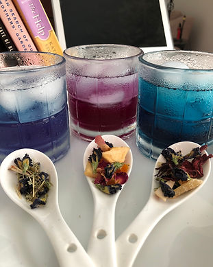 Butterfly Pea Tea and Hibiscus, blue tea