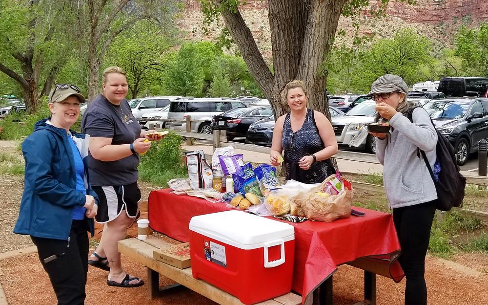 Zion National Park Utah picnic women travelers