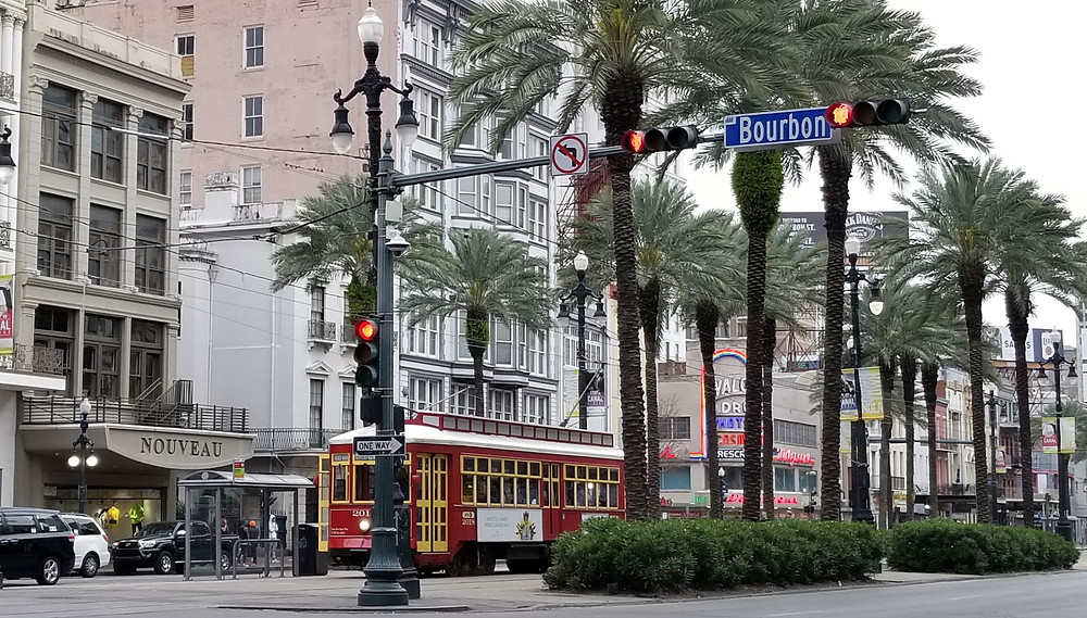 Bourbon Street, New Orleans, Streetcar