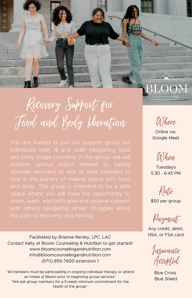 Recovery Support Group for Food and Body