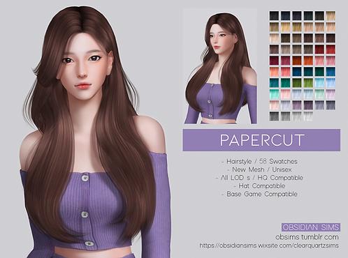 PAPERCUT HAIR ┊ New mesh