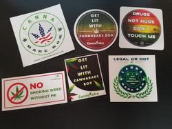 CannaBake Stickers