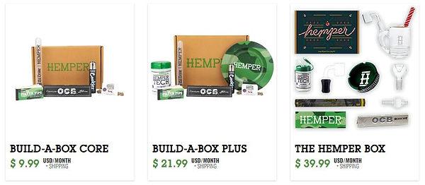Hemper subscription boxes