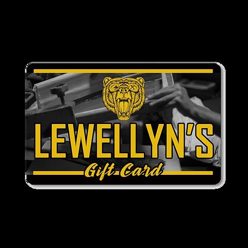 Lewellyn's Gift Card