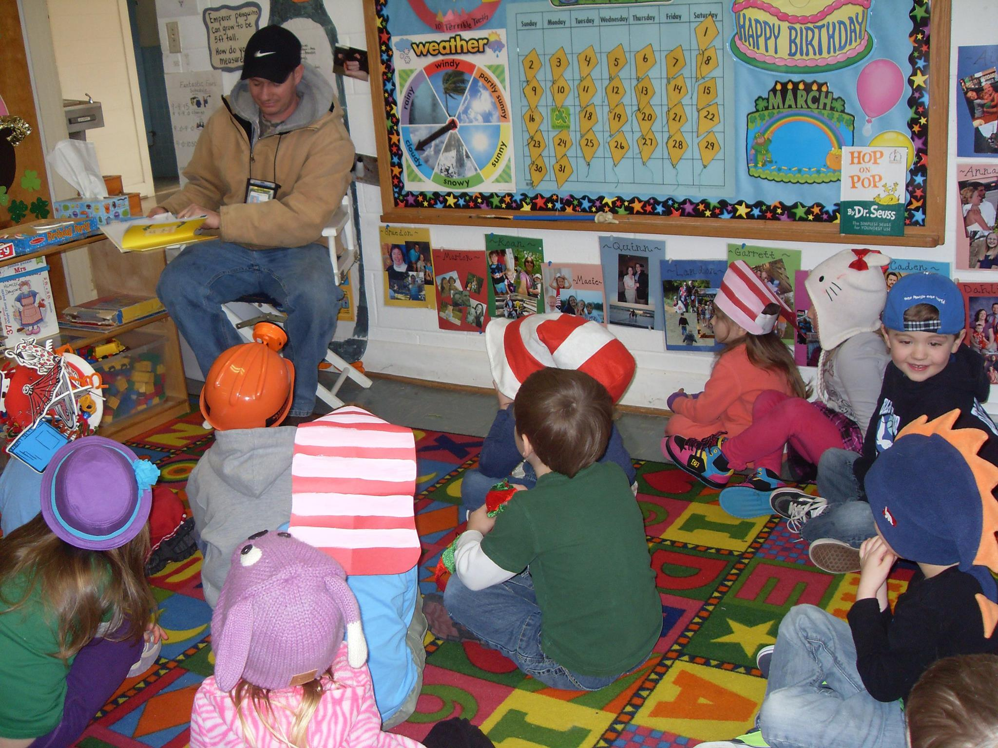 Parents reading to class