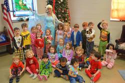 Pajama (and Elsa! ) day