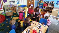 Toddler class building blocks