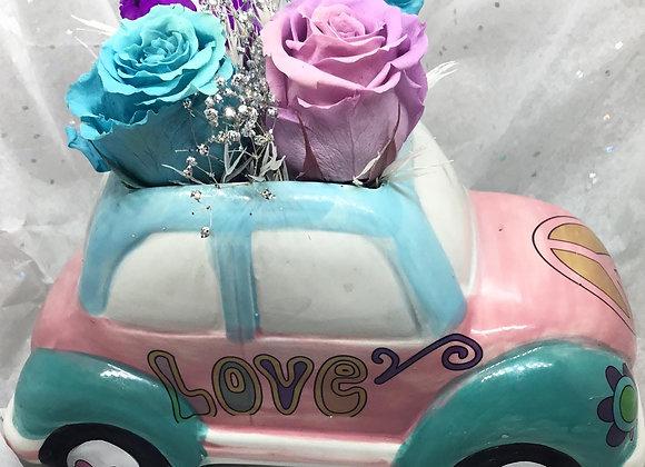 Ceramic Love Bug Rose Family