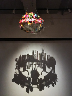 Object Landscape, Angela Yuen, 2016, Plastic Toys, Perspex, Wires, 64 x 64 x 48 cm
