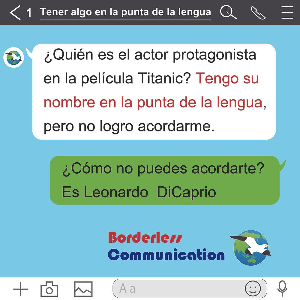 Tener algo en la punta de la lengua スペイン語