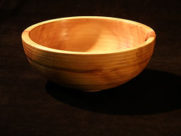 Hand made wooden bowl; box elder natural bowl