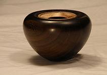 hand made wooden pot