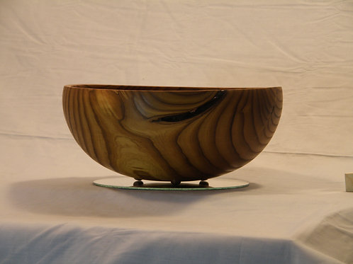 Russian Olive Button-Foot Bowl