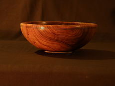 hand made wood bowl; wood serving bowl; wood salad bowl