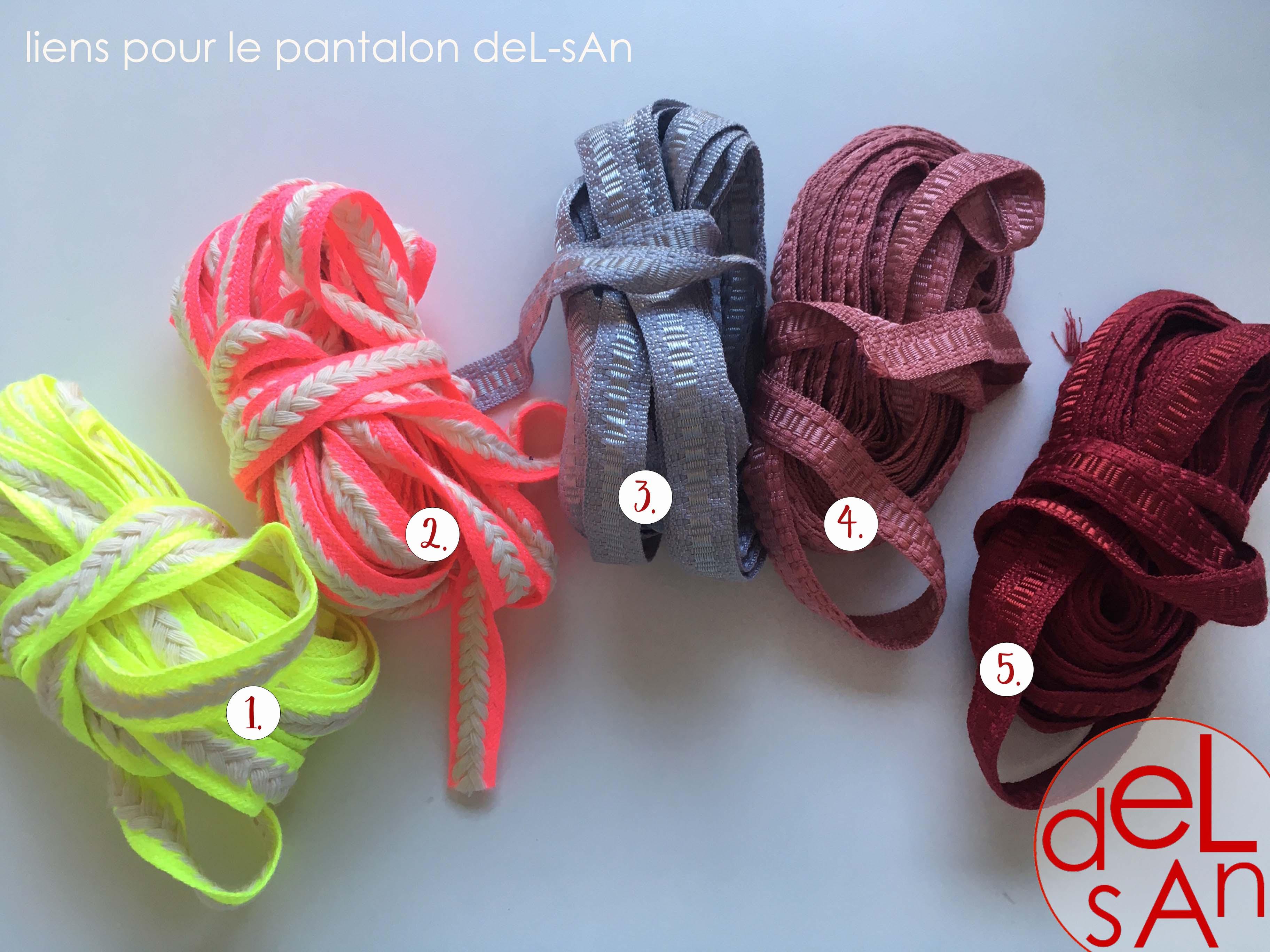 delsan - liens pour pantalon cordons 1