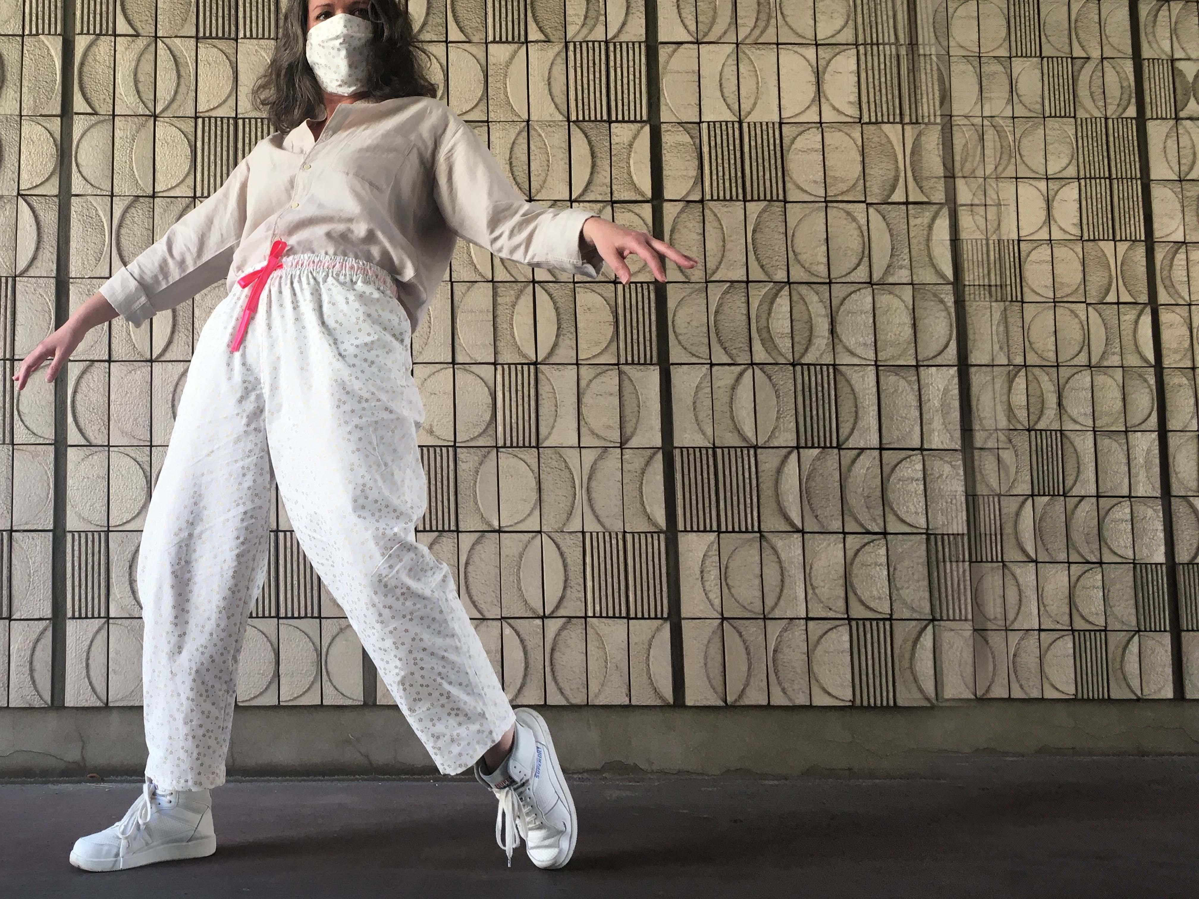 delsan - pantalon sakura or - sous le po