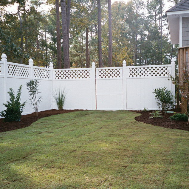 New Construction...New Landscape and Fencing