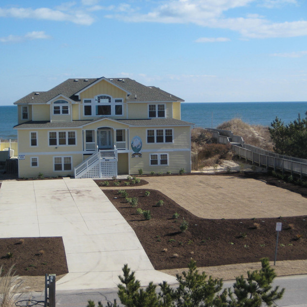 Birds eye view... landscaping in Corolla