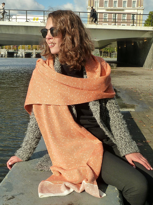 Ikat sjaal zalm