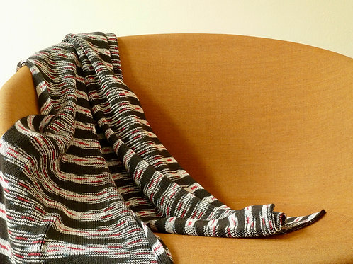 Multi color ikat sjaal 3