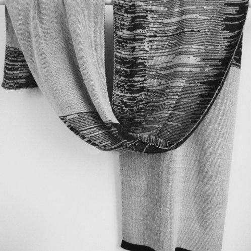 Basic sjaal zwart / wit