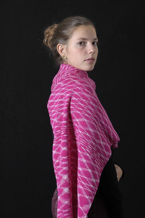 Ikat sjaal flamingo roze