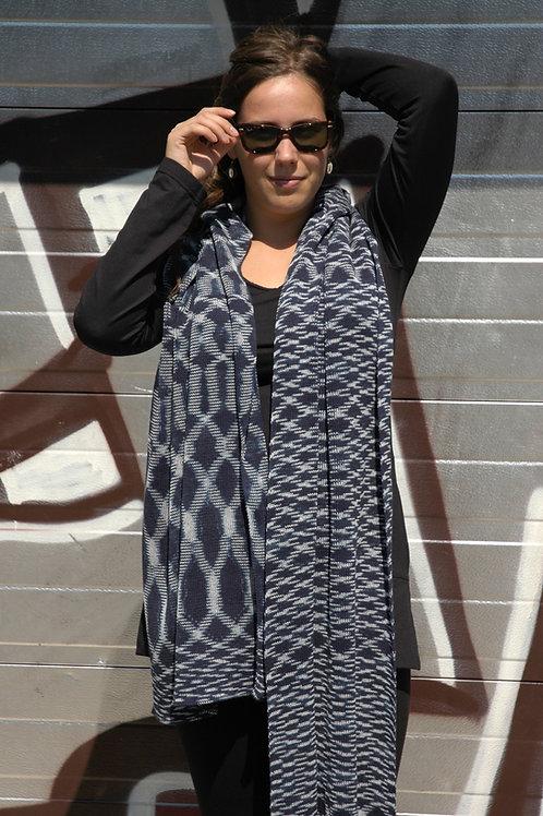 Ikat sjaal Indigo